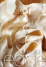Berisfords R7696[*]/419 | White Gold Metallic Edge Satin Ribbon