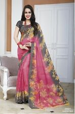 BOLLYWOOD PARTY SAREE DESIGNER PURE GEORGETTE SARI TRADITIONAL INDIAN SAREE_AS