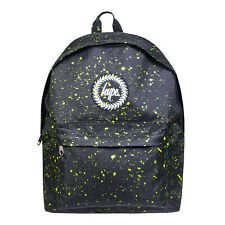 HYPE JUST HYPE BAS17190 Black With Neon Green Speckle Backpack Rucksack Bag
