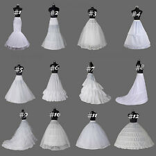 White Crinoline/Petticoat/Slips/Underskirt A Line/mermaid hoop bridal wedding