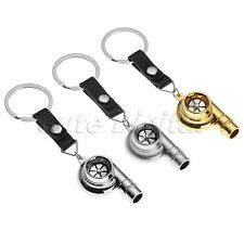Portable Keychain Ring Keyring Whistle Sound Spinning Turbocharger Key Chain Fob