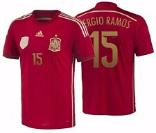ADIDAS S. RAMOS SPAIN AUTHENTIC ADIZERO HOME MATCH JERSEY FIFA WORLD CUP 2014.