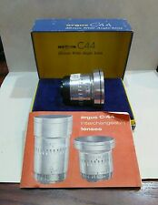 Argus C44 cintagon f4.5 35mm lens in box with manual.
