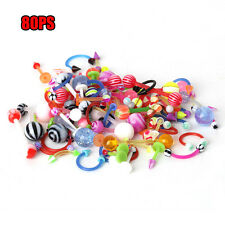 Colorful Body Piercing Jewelry Tongue Lip Eyebrow Nose Barbell Ear Rings New