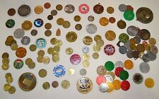 lot of over 110 old tokens and medals