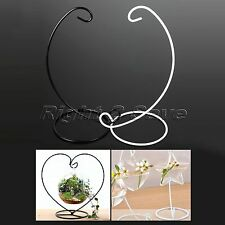 Creative Iron Candlestick Glass Ball Hanging Candle Stand Holder Home Decor