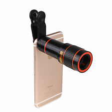 Clip-on 12x/8x Optical Zoom HD Telescope Camera Lens For Universal Mobile Phone