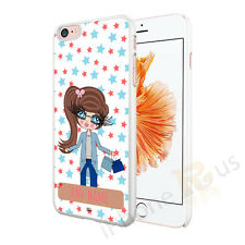 SHOPPING GIRL PERSONALISED ANY NAME PHONE CASE COVER FOR VARIOUS MOBILE PHONES