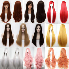 AMAZING WOMEN SYNTHETIC HAIR WIGS LONG ANIME COSPLAY PARTY STRAIGHT FULL WIGS K1