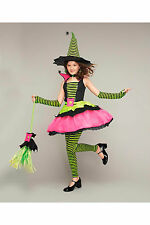NWT GIRLS  SIZE 6 & 8 CHASING FIREFLIES SPIDERINA WITCH/HAT AND BROOM COSTUME