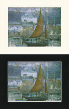 Evening In Clovelly - Mark Myers Mounted Ship/Naval Print