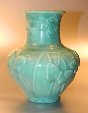 Rookwood Pottery 1939 Matte GREEN Butterfly Vase 6457 Excellent, NR!