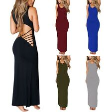Sexy Womens Backless Long Maxi Prom Gown Cocktail Party Evening Formal Dress