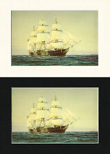 Charles W Morgan US Ship/Nautical/Maritime Print Cornelis de Vries A4 Cr/Bl/Wh