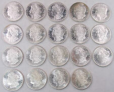 1882-S Morgan Silver Dollar Lot of 19 $1 Coins Uncirculated Proof-Like (#4442)