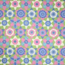 "FreeSpirit Sweet Lady Jane Daffy Down Dilly Periwinkle Fabric 18x44"" Remnant"