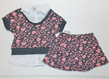 One Step Up Toddler Girls 2pc Shirt Skort Outfit Size 3T NWT