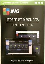 NEW!!! AVG Internet Security 2017 Unlimited Devices 2 Years Anti-Virus & Malware