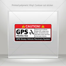 Stickers Sticker Gps Protected Prevention Sign Vehicle Vehicle st5 X4XR9