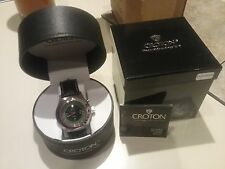 Men's CROTON Watch Gambling Casino ROULETTE CN307038 Leather Band NOS.