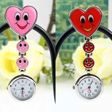 Smile Heart Style Clip-on Nurse Doctor Brooch Pendant Fob Pocket Quartz Watch MP