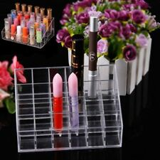 New 24 Clear Acrylic Cosmetic Display Stand Makeup Lipstick Organizer Holder SMP