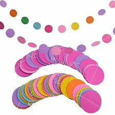 Room Round Card Decor Colorful Home Garland Wedding Decoration Paper Polka Dot