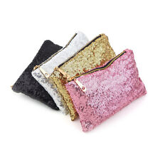 Glitter Sparkling Sequins Dazzling Clutch Evening Party Bag Handbag Purse MP