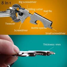 Opener Survival 8 In 1 Multi-function Tool Keychain Outdoor Gear Keyring