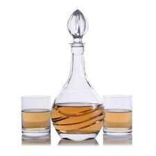 Swirl Liquor Decanter Rocks Sets by Crystalize