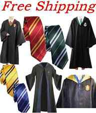 Harry Potter Gryffindor/Slytherin Robe &Tie Costume Cosplay Cloak Fancy Dress XL