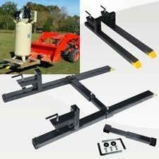 1500lbs 4000lbs Clamp on Pallet Forks Loader Bucket Tractor Chain Stabilizer Bar