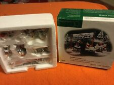 Brand New! Dept 56 North Pole Village CHRISTMAS FUN RUN Accessory 56434