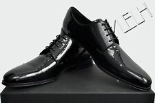 DIOR HOMME Authentic New Classic Derby Patent Leather Black Shoes sz 43 44