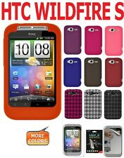 AMZER Silicone Luxe Argyle Cover + extra Case/ Screen Protector HTC Wildfire S