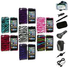Zebra Design Hard Case Cover Accessory+8X Accessory for iPod Touch 4th Gen 4G 4