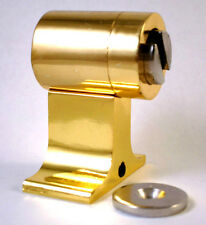 DX-1 Satin Brass *MAGNETIC* Door Stop / Holder  ~Commercial Grade Quality~
