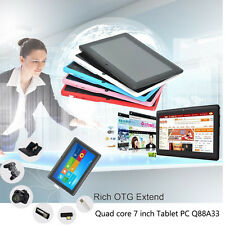 Quad Core 7 Inch 8GB Tablet PC Q88A33 Android 4.4 4GB Dual Camera WiFi Android
