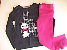 NWT Gymboree STARRY NIGHT Sz 2T or 4T Black Panda Top & Bow Pants NEW