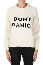 MARC BY MARC JACOBS New woman White DON'T PANIC Round Neck Merino Wool Sweater