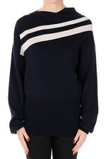 JIL SANDER new women Asymmetrical neck Wool Sweater Authentic Italy made