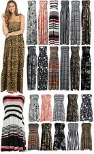 Womens Printed Sheering Maxi Ladies Boobtube Bandeau Dress Printed Sheering Top