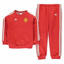 Adidas Manchester United Jogger Tracksuit Infants Red Football Soccer Top Pant