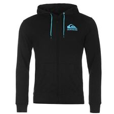 Quiksilver Logo Full Zip Hoody Mens Black/Blue Hoodie Sweatshirt Jacket