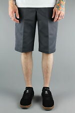 """Dickies WR803 Slim Fit 13"""" Twill Work Chino Shorts Charcoal Grey"""