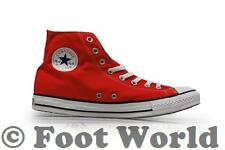 Unisex Converse Chuck Taylor All Star Canvas Hi Trainers - M9621- Red Trainers