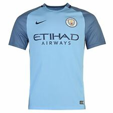 Nike Manchester City FC Home Jersey 2016 2017 Mens Blue/Navy Football Soccer Top