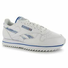 Reebok Classic Leather Etched Ripple III Mens Shoes Trainers Wht/Blu Sneakers