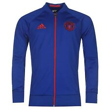 Adidas Manchester United Anthem Jacket Mens Royal/Red Football Soccer Track Top