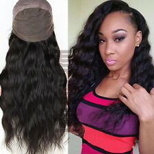 Silk Top Indian Virgin Human Hair Lace Front Wigs Unprocessed Black Full Wig #zS